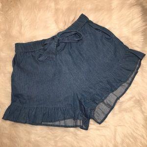Love Tree High Elastic Waist  Denim Shorts